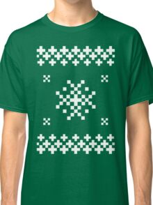 Ugly Christmas Sweater (White) Classic T-Shirt