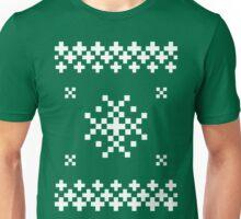 Ugly Christmas Sweater (White) Unisex T-Shirt