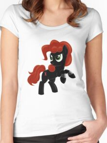 Black Widow Pony Women's Fitted Scoop T-Shirt