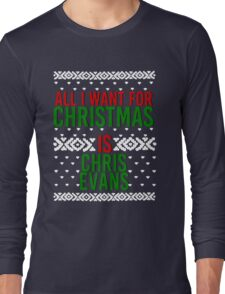 All I Want For Christmas (Chris Evans) Long Sleeve T-Shirt