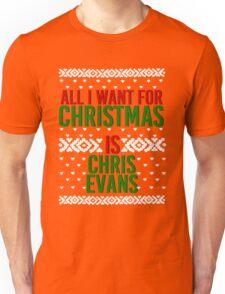 All I Want For Christmas (Chris Evans) Unisex T-Shirt