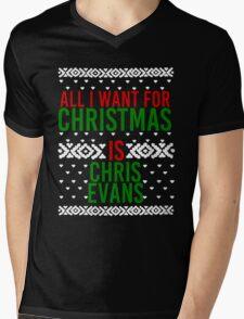 All I Want For Christmas (Chris Evans) Mens V-Neck T-Shirt
