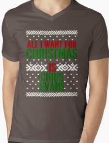 All I Want For Christmas (Chris Evans) Mens V-Neck T-Shirt