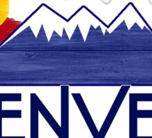 Denver Colorado wood mountains Sticker
