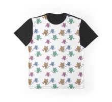 Happy Kitty Wind Pattern Graphic T-Shirt