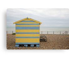 Beach hut at Kingsdown Canvas Print