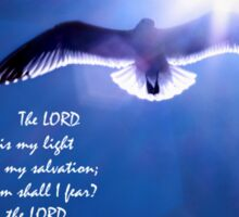 The Lord Is My Light and My Salvation Sticker