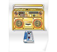 Retro Star Wars Boom box/Ghetto Blaster R2-D2 C-3PO Poster