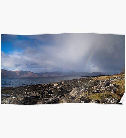 Looking across Loch Linnhe Poster