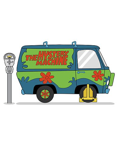 Mystery Machine Wheel Clamp  by Creative Spectator