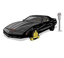 Knight Rider KITT Car Wheel Clamp  by Creative Spectator