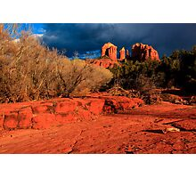 Cathedral Rock Sunset Photographic Print