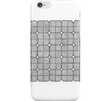 Black Squares Mosaic iPhone Case/Skin