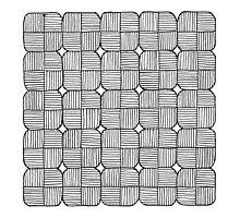 Black Squares Mosaic by cinema4design