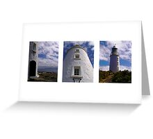 Bruny Lighthouse Triptych Greeting Card