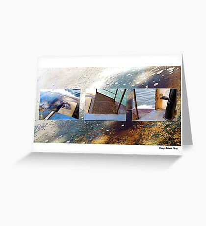 Water & Rust Greeting Card