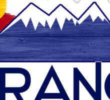 Durango Colorado wood mountains Sticker