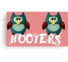 Hooters cute owls Canvas Print