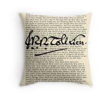 Concerning Hobbits - Parchment Throw Pillow