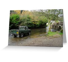 Landrover and the Ford  Greeting Card