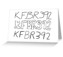 KFBR392 KFBR392 KFBR392 Greeting Card
