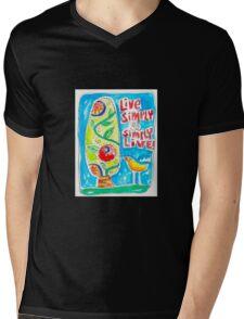 Live Simply Mens V-Neck T-Shirt