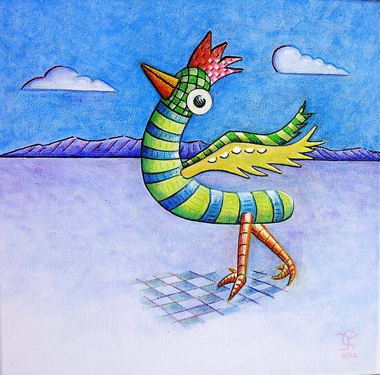 Bright Bird (in a dull world) by Charles  Jones