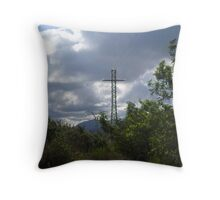 Pylons and Clouds. Throw Pillow