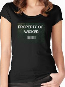 Maze Runner  - property of wicked Women's Fitted Scoop T-Shirt