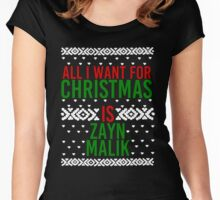 All I Want For Christmas (Zayn Malik) Women's Fitted Scoop T-Shirt