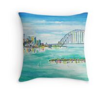 Sydney Harbour  Throw Pillow