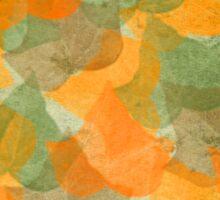 Leaves green orange Sticker