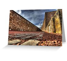 Cotton mill village Greeting Card