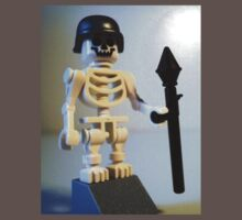 Skeleton Zombie Soldier with Custom LEGO® Minifigure Helmet & Bazooka, by 'Customize My Minifig' by Chillee