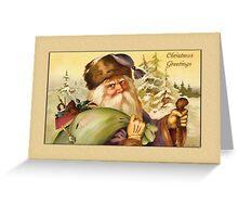 Santa with Sack Christmas Card Greeting Card