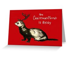 The Christmas Ferret Greeting Card
