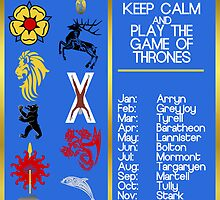 KEEP CALM and play GAME OF THRONES by amanoxford
