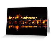 Reflections of Prague Castle at Night Greeting Card