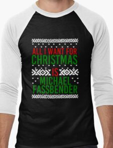 All I Want For Christmas (Michael Fassbender) Men's Baseball ¾ T-Shirt