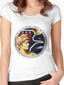 Apollo 17 Mission Logo Women's Fitted Scoop T-Shirt