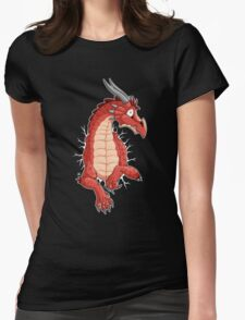 STUCK - Red Dragon Womens Fitted T-Shirt