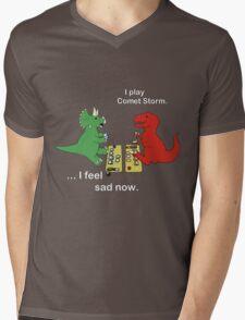 Dino League: Casting Comet Storm Mens V-Neck T-Shirt