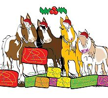 Christmas Carols Horse Style by Diana-Lee Saville