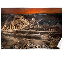 Digitally manipulated image, Israel, Judaea Desert,  Poster
