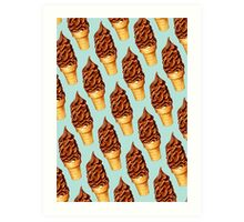 Chocolate Dip Ice Cream Pattern Art Print