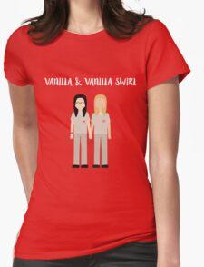 """Alex & Piper: """"Vanilla & Vanilla Swirl"""" Womens Fitted T-Shirt"""