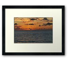 Pelican in the Sunrise Framed Print