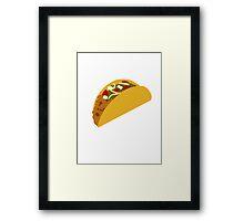 Taco Framed Print