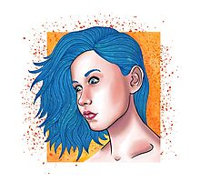 Starry Haired Portait Photographic Print