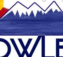 Fowler Colorado wood mountains Sticker